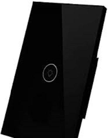 Wireless Light Switch 1 Gang in black